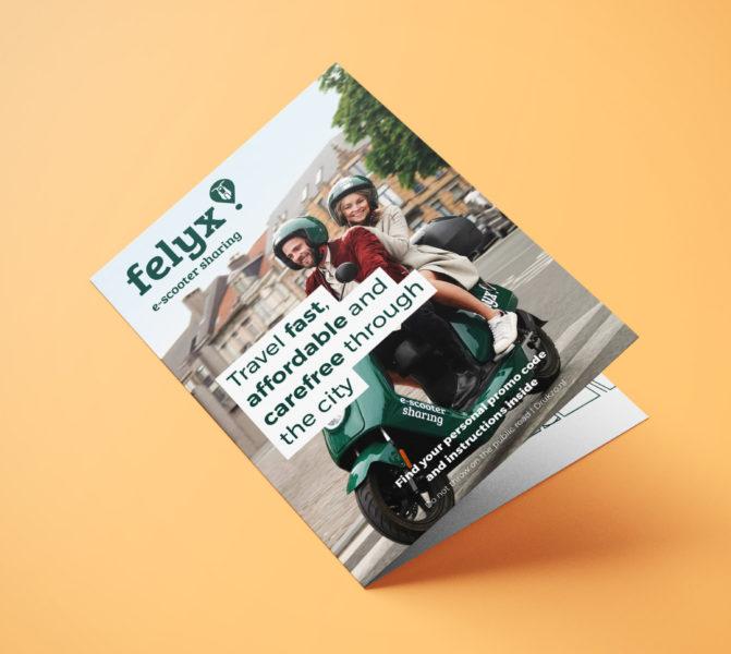 felyx Brussel flyer ontwerp
