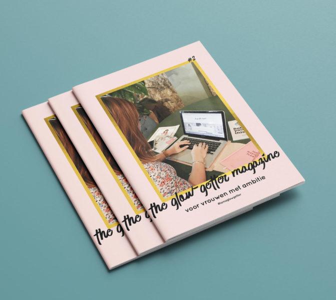Glow-getter Magazine template ontwerp