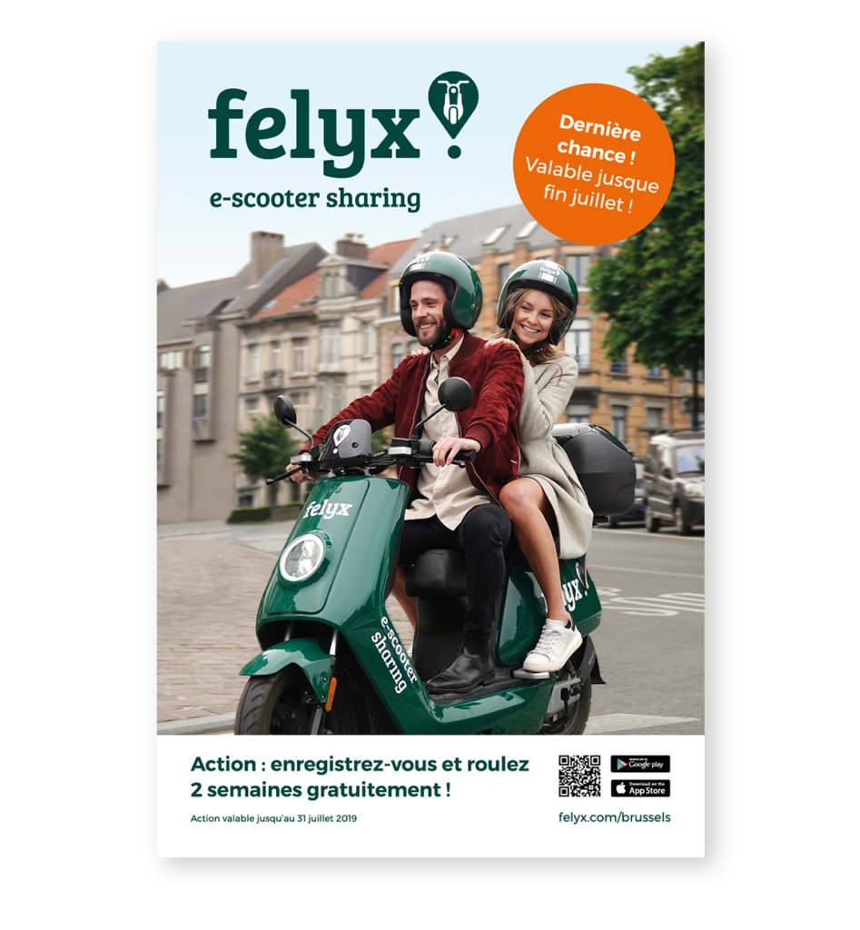 Abriposter felyx Brussel