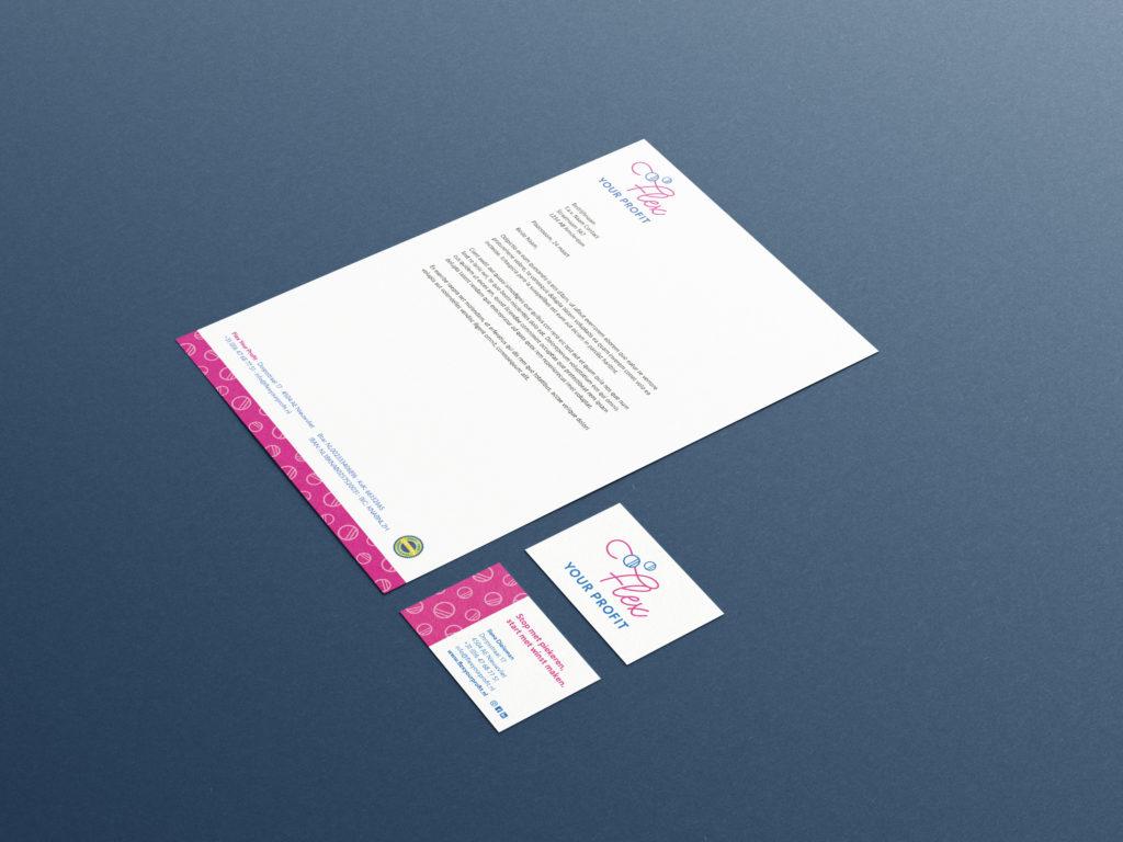 Flex Your Profit briefpapier en visitekaartjes